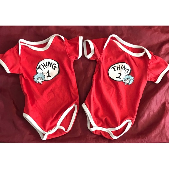 fd502dd9 Bumkins One Pieces | Dr Seuss Thing 1 Thing 2 Onesies | Poshmark